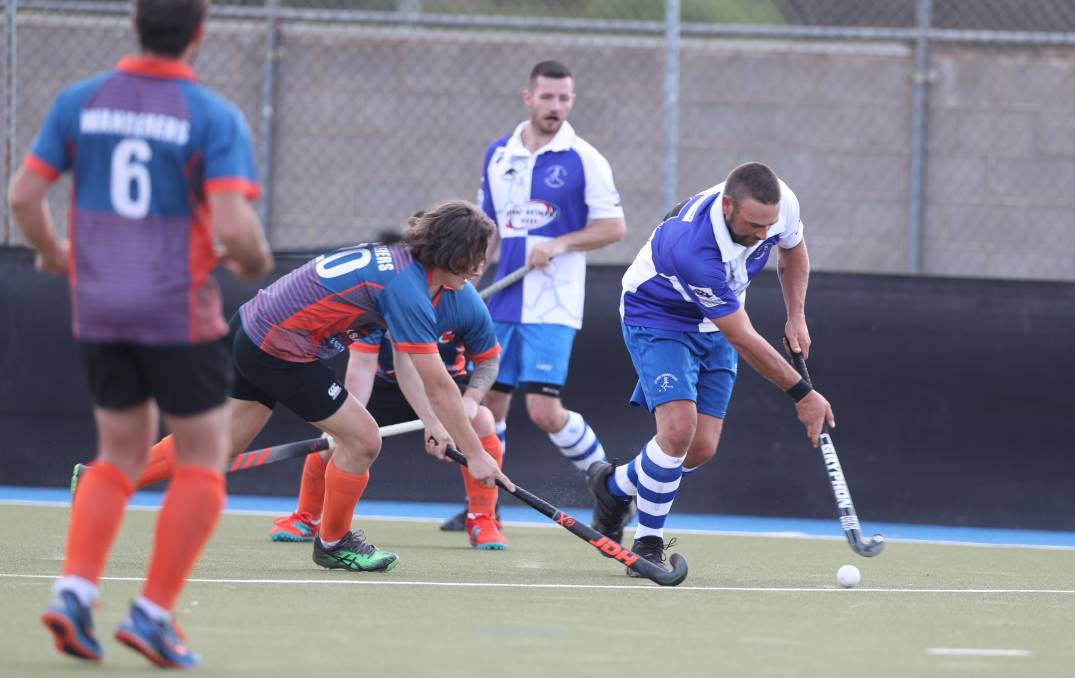 COME BACK ON THE CARDS: A St Pat's side including Brent Naylor, won the last game of men's Premier League Hockey when beating Orange Wanderers in the 2019 grand final. The men's competition is likely to return this year. Photo: PHIL BLATCH
