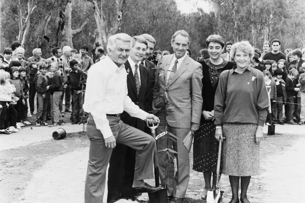 INCEPTION: Landcare national launch with Bob Hawke and other dignities at Wentworth NSW on July 20, 1989.