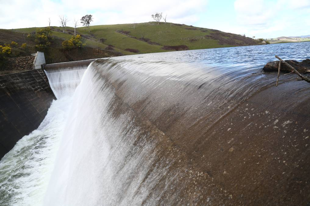 Councillor Warren Aubin thinks Bathurst needs a third dam, in addition to Chifley Dam (pictured) and Winburndale Dam, to secure the city's water supply. Photo: PHIL BLATCH
