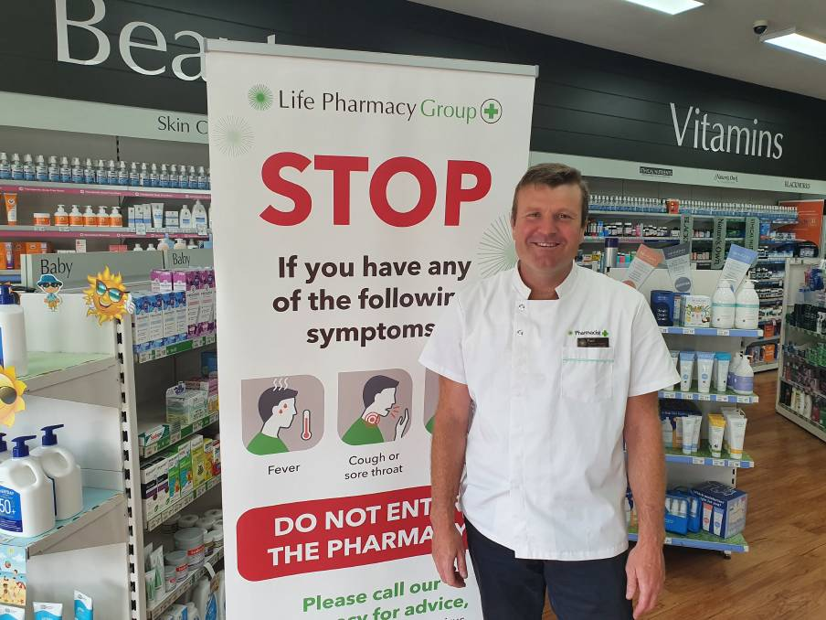 BIG NUMBERS: Pharmacist Paul Jones says the number of COVID vaccinations provided will be five times the number of annual flu shots given each year. Photo: ANDREW LOTHERINGTON
