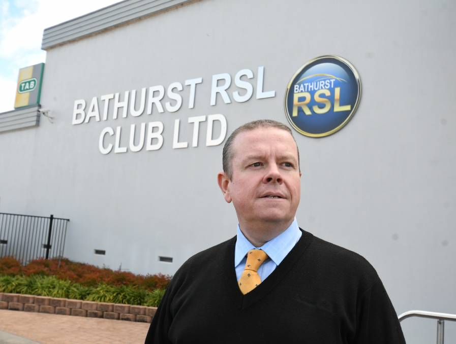 Bathurst RSL General Manager, Peter Sargent, said it was too soon to make a call on the controversial vaccination proposal. Photo: Chris Seabrook