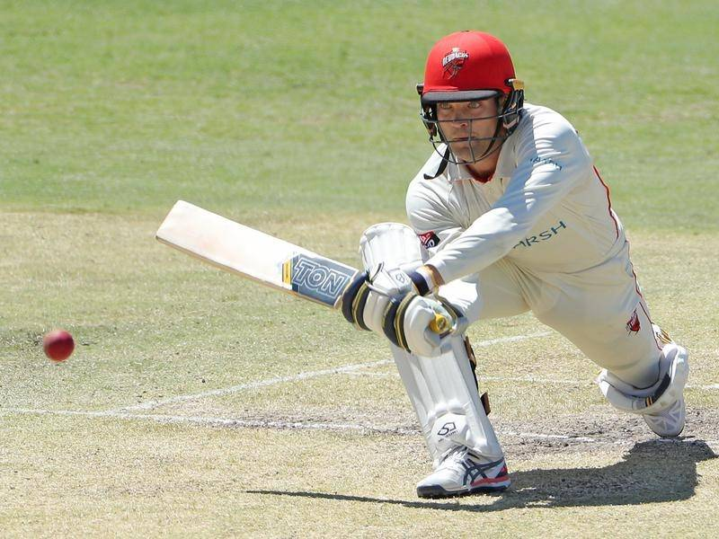 Alex Carey was amongst the runs for South Australia against NSW in the Sheffield Shield.