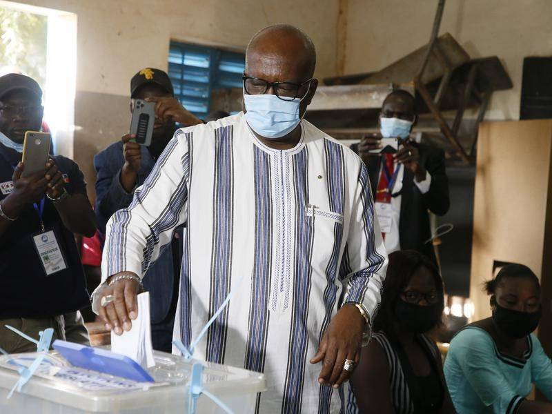 Burkina Faso President Roch Marc Christian Kabore has won a second mandate, vote results suggest.