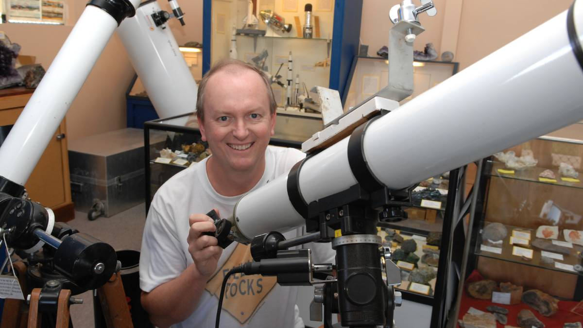 EYE ON THE SKY: Bathurst Observatory Research Facility manager Ray Pickard said work will begin on the Bathurst Asteroid Research Telescope next week. Photo: ZENIO LAPKA 	040714zlunar1