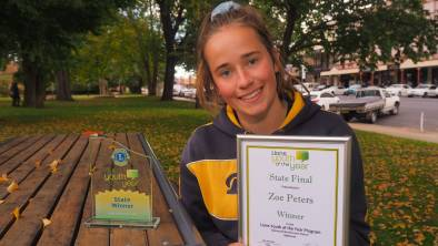 STATE WINNER: Bathurst High Campus' Zoe Peters will represent NSW at the Lions Youth of the Year national final. Photo: SAM BOLT