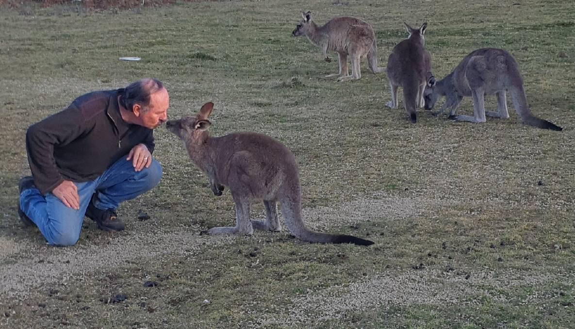 HELP AT HAND: John Lyle is a former war medic and in the past 21 years he's helped to save hundreds of animals. Photo: SUPPLIED